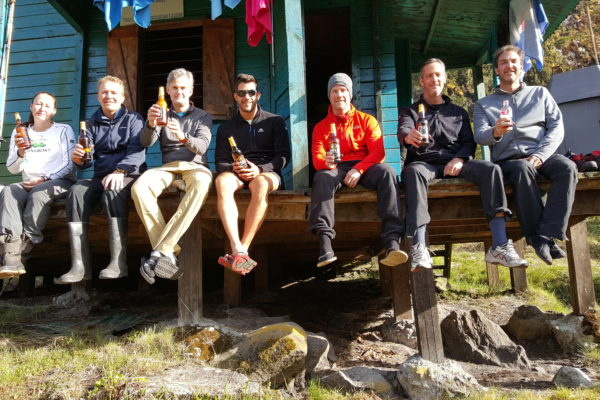 Chilling at Guy Yeoman Hut on Day 6 - our last night in the Ruwenzori Mountains