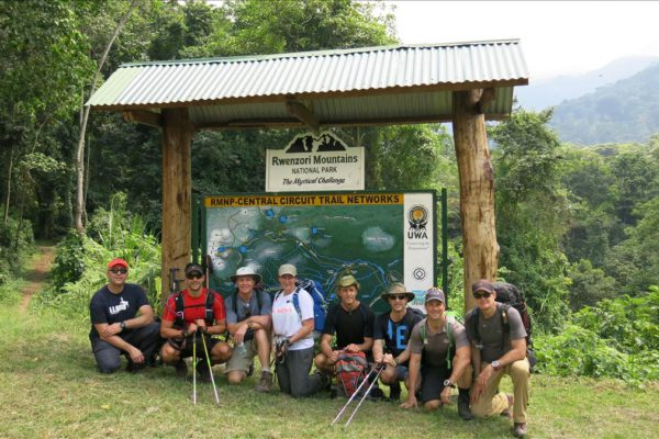 Day 1, Ruwenzori Expedition, June 9 - 15, 2016, Sean, Paul, Tim, Linda, Neil, Sean, Mark and Tony